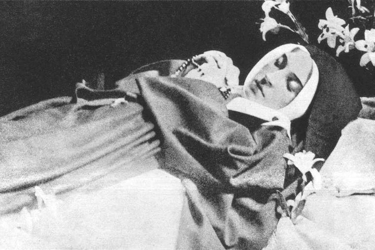 Another gift and miracle of Our Lady of Lourdes can be seen in this photo of the incorrupt body of St. Bernadette Soubirous. The picture was taken shortly after her exhumation in 1925 — 46 years after her burial.