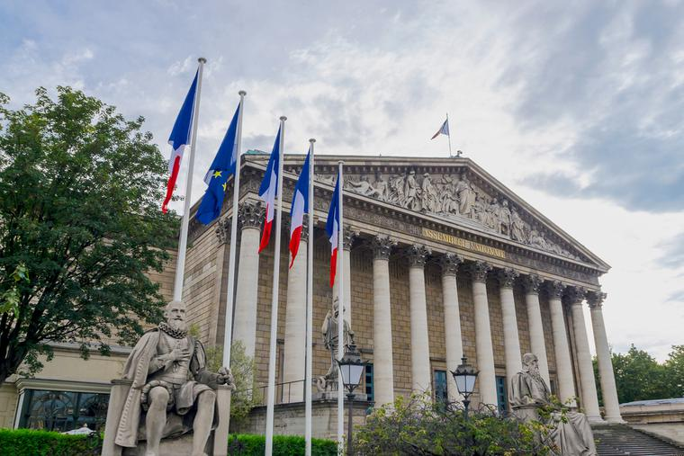 National Assembly in Paris, France.