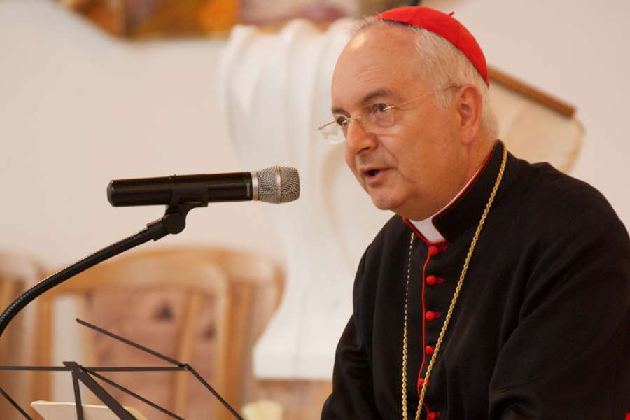 Cardinal Mauro Piacenza, Major Penitentiary of the Apostolic Penitentiary.