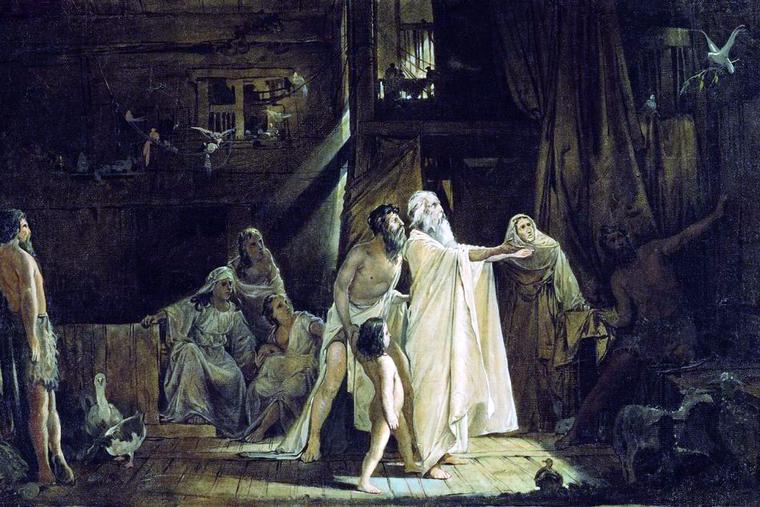 """Andrei Petrovich Ryabushkin, """"Noah's Ark,"""" 1882"""