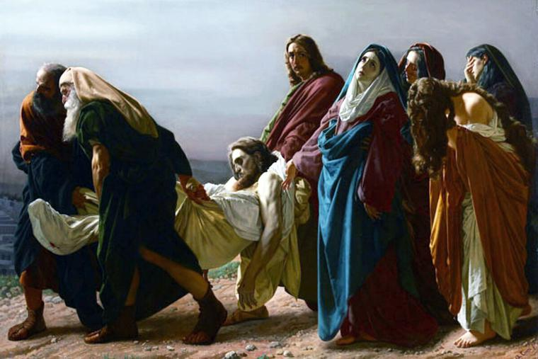 "Antonio Ciseri, ""The Carrying of Christ's Body to the Sepulcher,"" 1883"