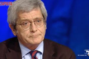 Professor Roberto Bernabei appearing on the Italian news channel La7.