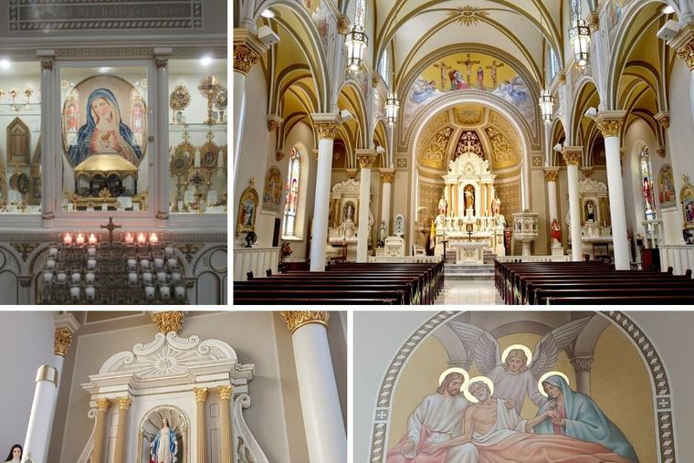 Renovation of this church, dedicated to St. Joseph, highlights the architecture of the early 19th century. A vast relics collection is a devotional highlight.