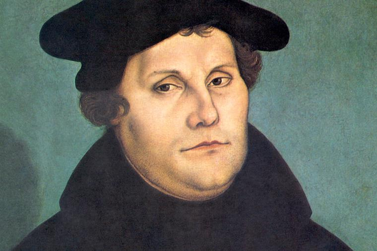 "Lucas Cranach the Elder, ""Portrait of Martin Luther,"" 1529"