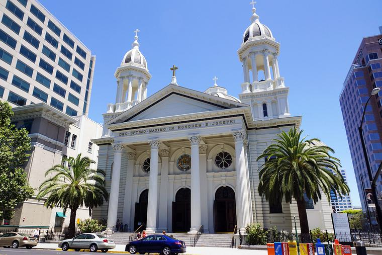 The Cathedral Basilica of St. Joseph in San Jose, California