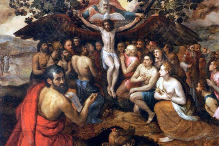 "Frans Floris I, ""The Sacrifice of Jesus Christ, Son of God, Gathering and Protecting Mankind,"" 1562"