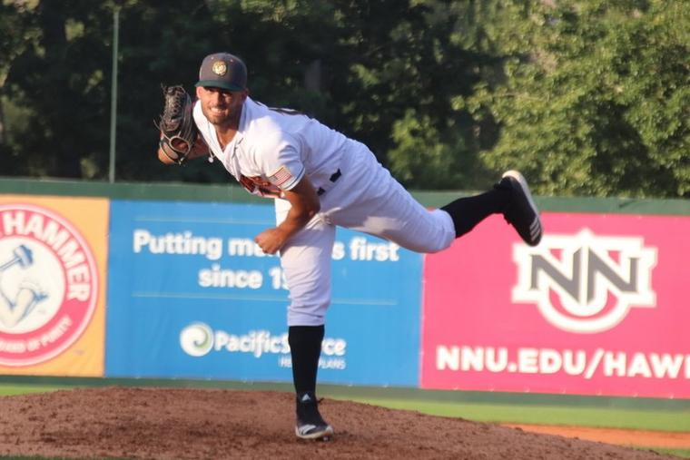 Reagan Todd pitches in Boise, Idaho, in 2019.