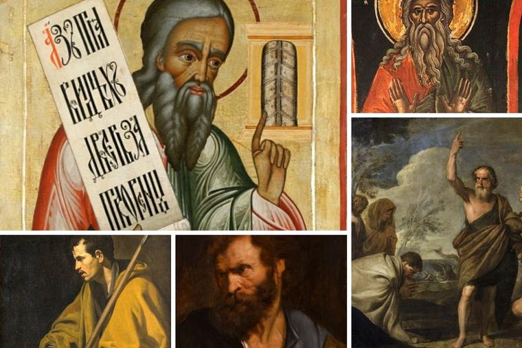 Clockwise from top left: Ezekiel, Abraham, Jonah, Jude the Apostle and Thomas the Apostle all traversed this holy land.