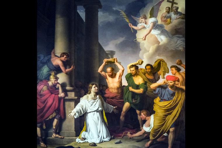 "Charles Thévenin, ""The Stoning of St. Stephen,"" 1829"
