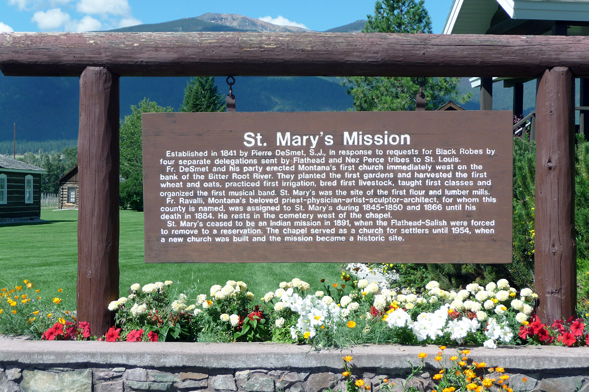 St. Mary's Mission sign