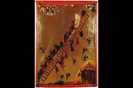 12th-century Sinai icon depicting 'The Ladder of Divine Ascent'
