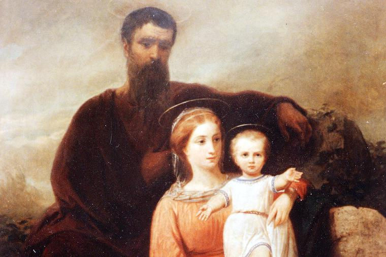 """Charles Soubre, """"The Holy Family,"""" 19th century"""
