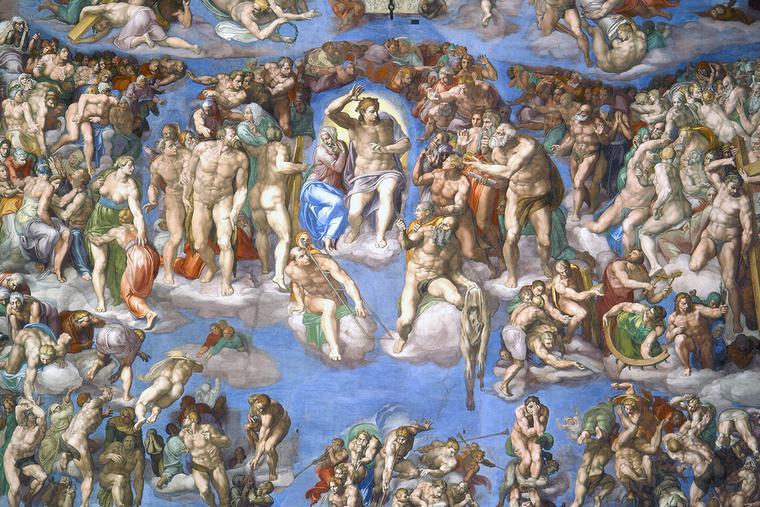 """Michelangelo, """"The Last Judgment,"""" 1536-1541"""