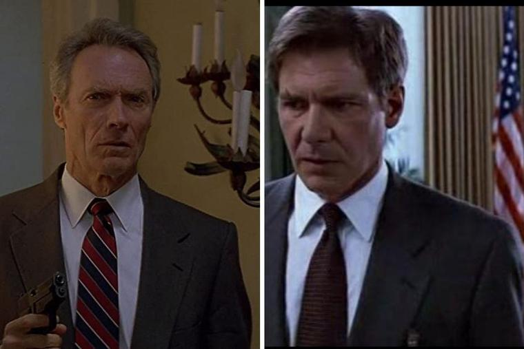 L to R: 'In the Line of Fire' (1993) and 'Clear and Present Danger' (1994) both get a thumbs-up.