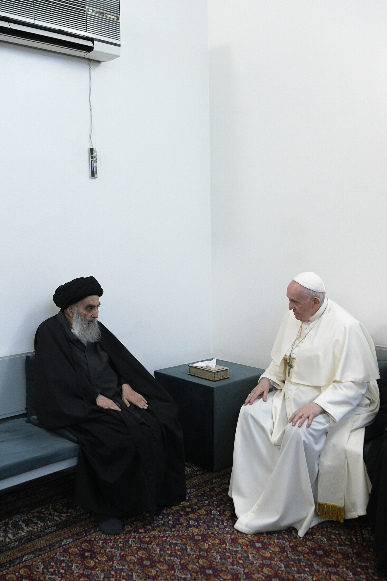 Pope Francis meets Grand Ayatollah Ali al-Sistani in Najaf, Iraq, March 6, 2021