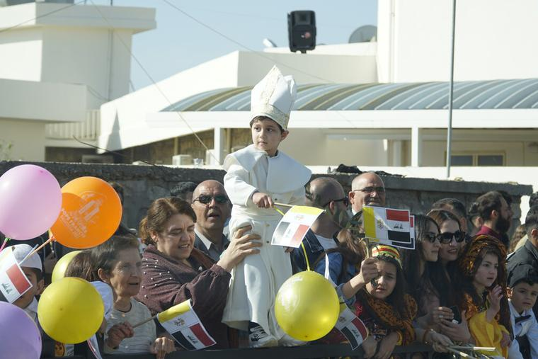 Pope Francis spends his third day in Iraq visiting the people of Mosul, Qaraqosh and Erbil on March 7th, 2021.