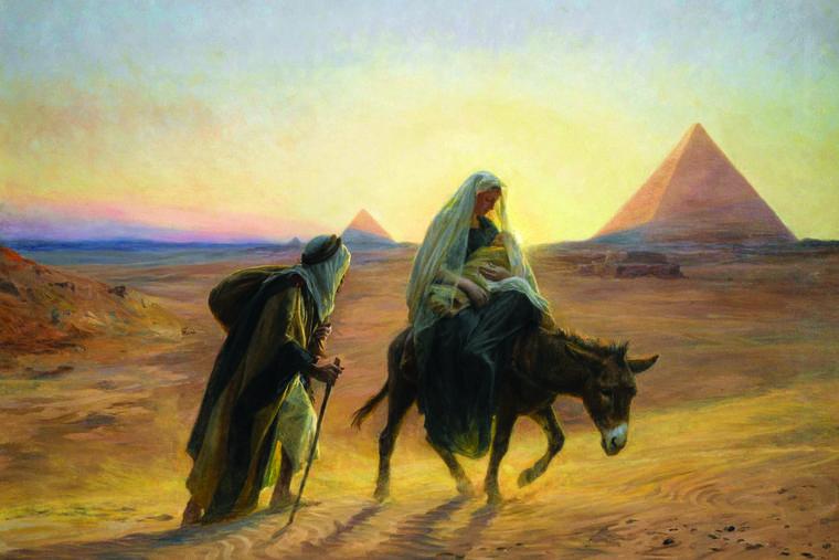 EUGÈNE GIRARDET, 'THE FLIGHT INTO EGYPT,' BEF. 1907