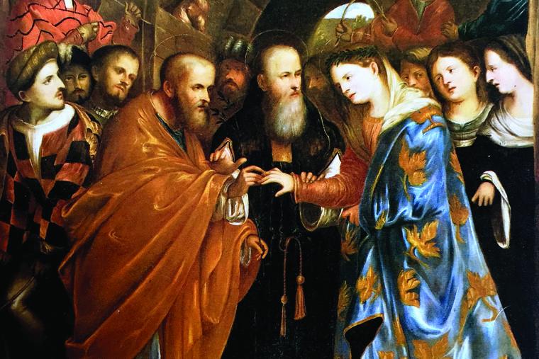 GIROLAMO ROMANINO, 'THE MARRIAGE OF THE VIRGIN,' C. 1540