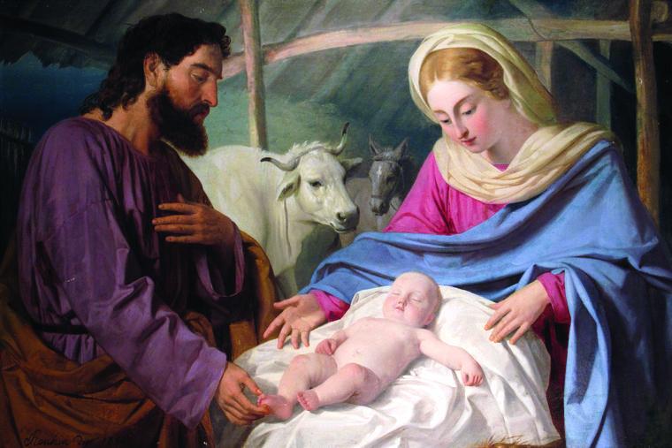 ANGELO RECCHIA, 'HOLY FAMILY,'  C. 1854