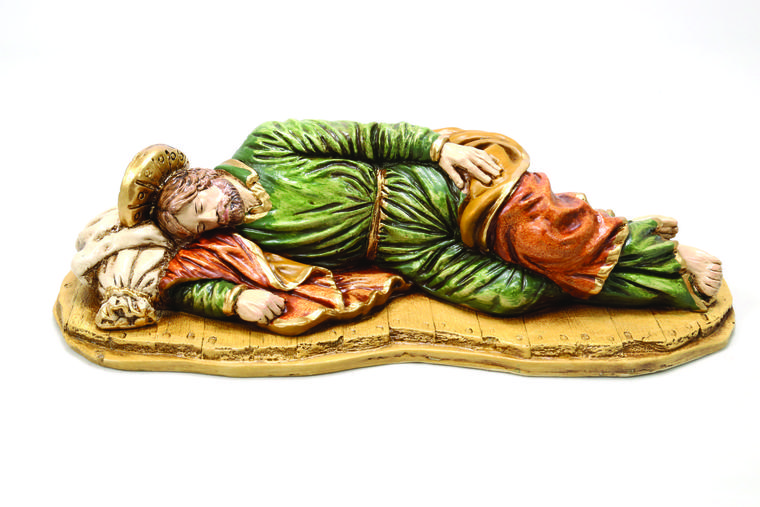Statues of Jesus' earthy father have become more popular in recent years. Pope Francis has a version of this statue on his desk.