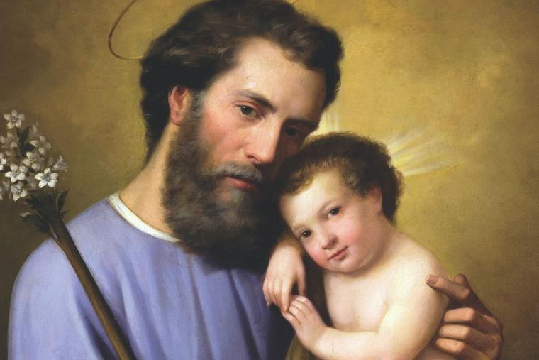RICARDO BALACA, 'ST. JOSEPH WITH THE INFANT JESUS,' 1861
