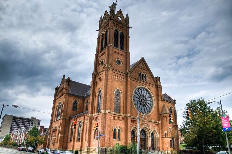 The Church of St. Benedict the Moor in Pittsburgh, Pa.