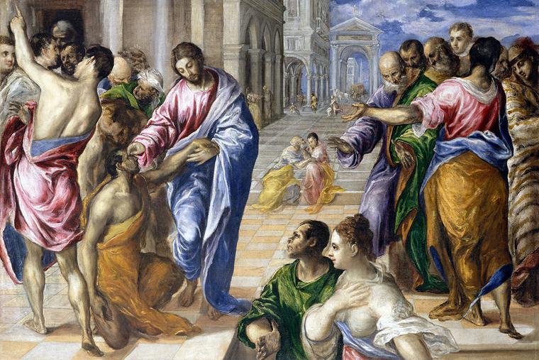 "El Greco, ""The Man Born Blind,"" ca. 1573, Metropolitan Museum of Art"