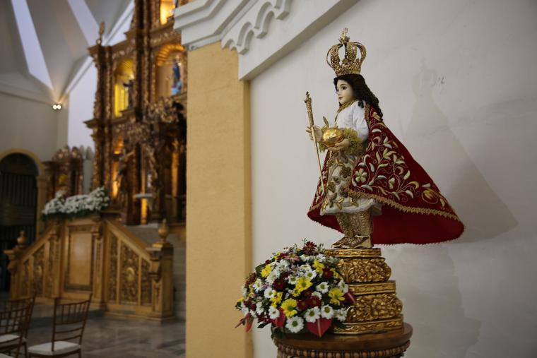 A Santo Niño (Holy Child) statue is seen inside the Cathedral of the Transfiguration of Our Lord, in Palo, Philippines, Jan. 17, 2015. This year Filipino Catholics celebrate 500 years of the arrival of the Christian faith in their country.