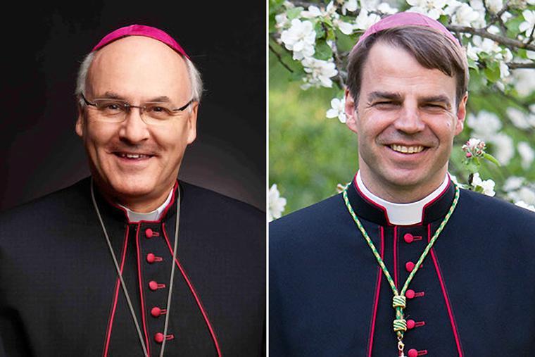 Bishop Rudolf Voderholzer (left) and Bishop Stefan Oster