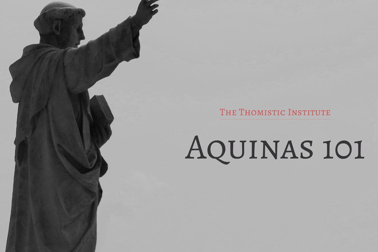 Promotional poster for Aquinas 101.