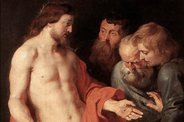 "Peter Paul Rubens, ""The Incredulity of St. Thomas,"" 1613"