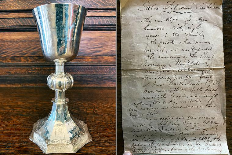 The MacSwiney Chalice with its letter of conveyance