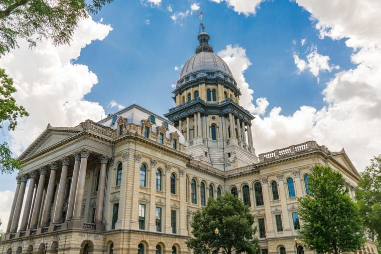 Illinois State Capital Building in Springfield.
