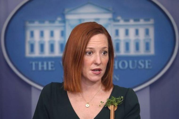White House press secretary Jen Psaki during a press briefing March 17, 2021.