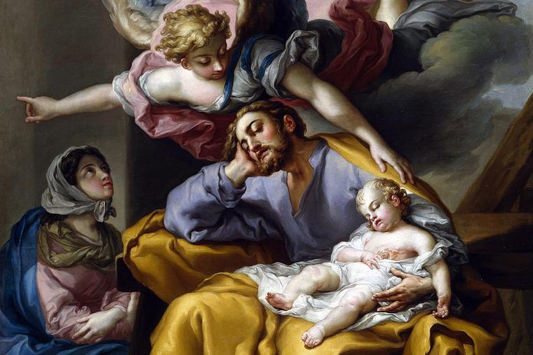 "Vincent López Portaña, ""The Dream of St. Joseph,"" 1805"