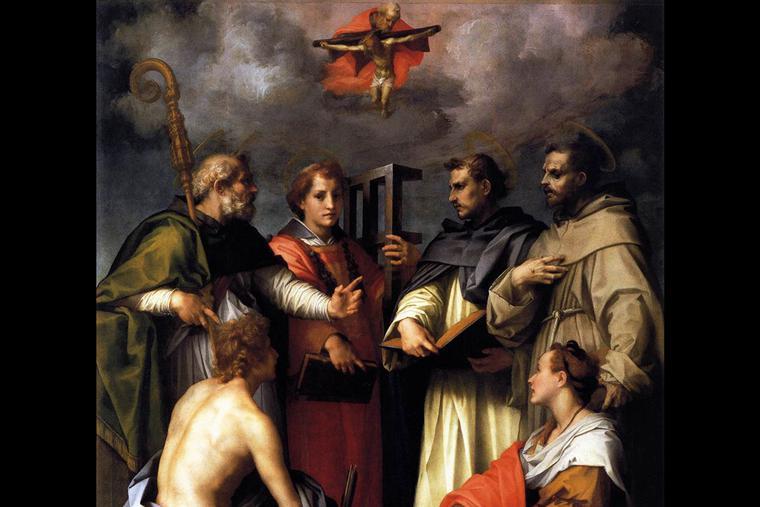 """Andrea del Sarto, """"The Disputation on the Trinity,"""" ca. 1517"""