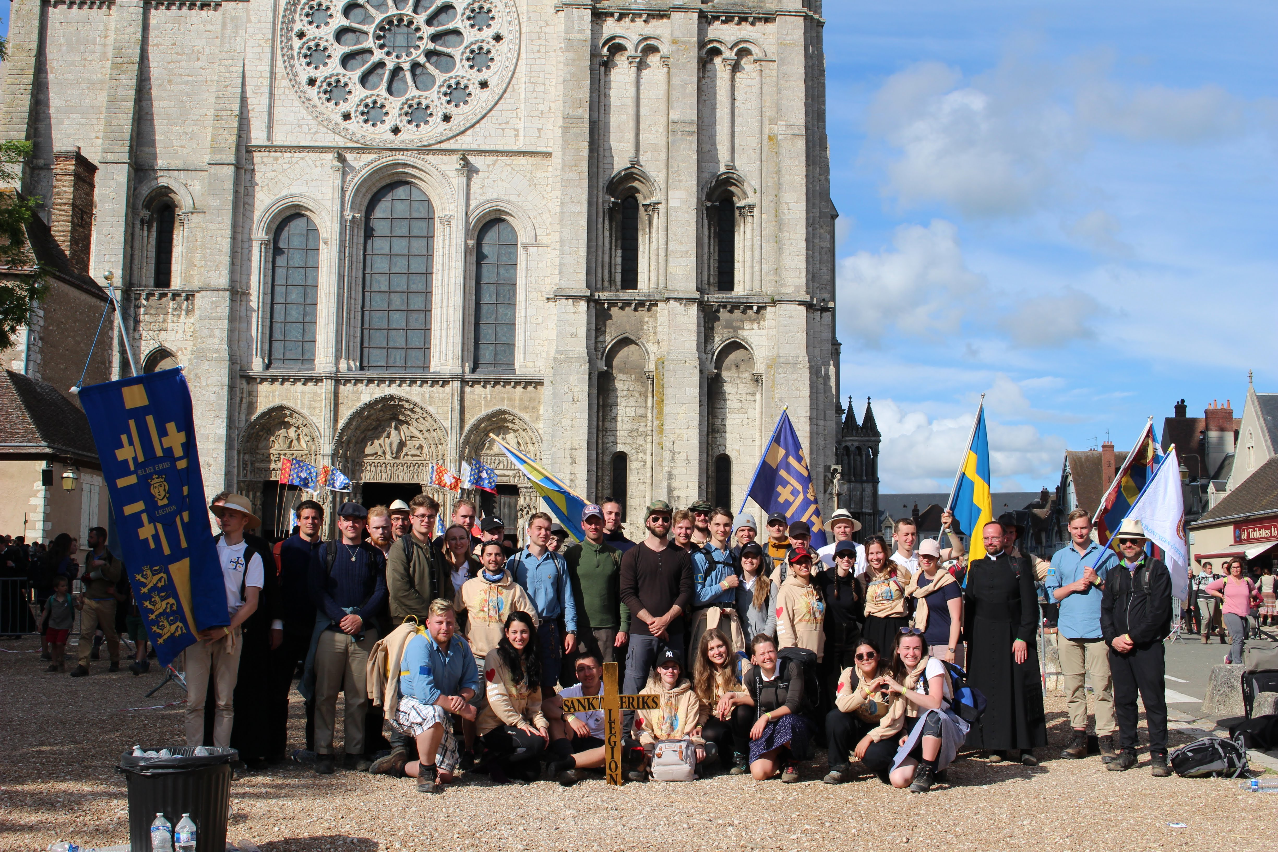 Photo from the 2019 youth group pilgrimage to Chartres.