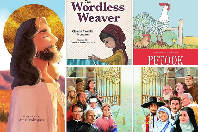 New books for kids look at prayer, the Shroud of Turin, meeting Jesus and our friends the saints.
