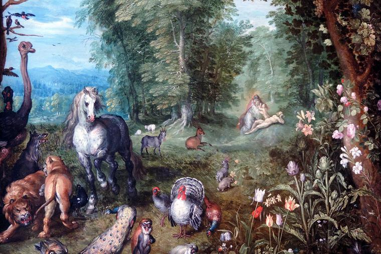 """Jan Brueghel the Younger, """"Paradise with the Creation of Eve,"""" ca. 1638"""