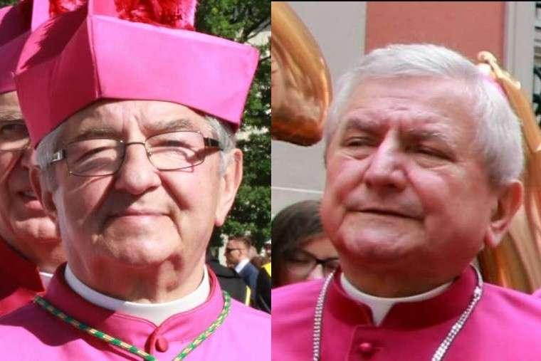 Archbishop Sławoj Leszek Głódź (L) and Bishop Edward Janiak (R).