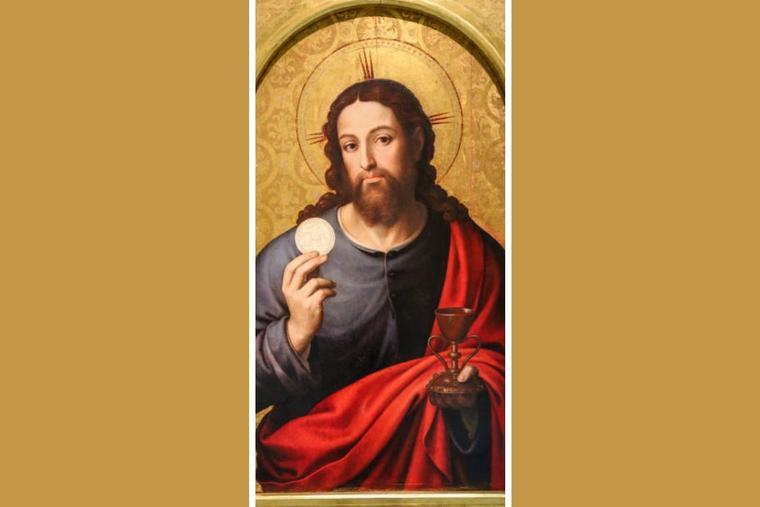 Juan de Juanes (Vicente Juan Masip), 'Christ the Savior With the Eucharist,'  1545-1550