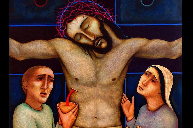 Jesus dies on the cross.