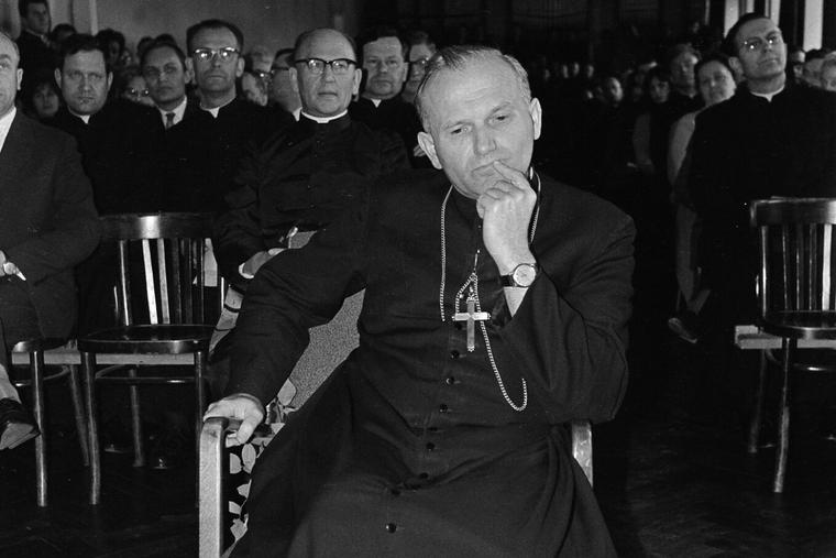 Cardinal Karol Wotyla, the future Pope John Paul II, in an undated file photo. Credit: John Paul II Catholic University of Lublin