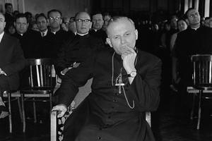 Cardinal Karol Wotyla, the future Pope John Paul II, in an undated file photo. Credit: John Paul II Catholic University of Lublin