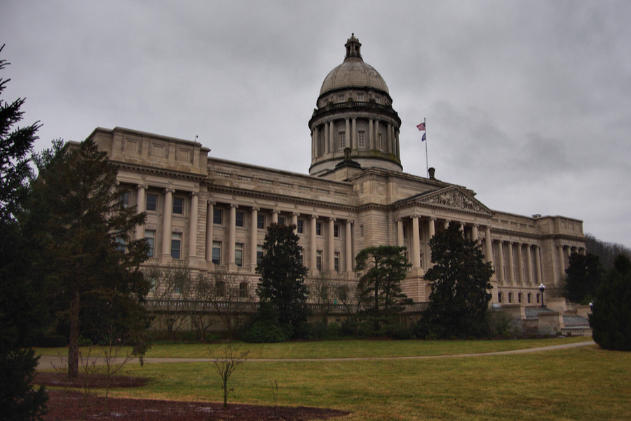 Kentucky state capitol building.