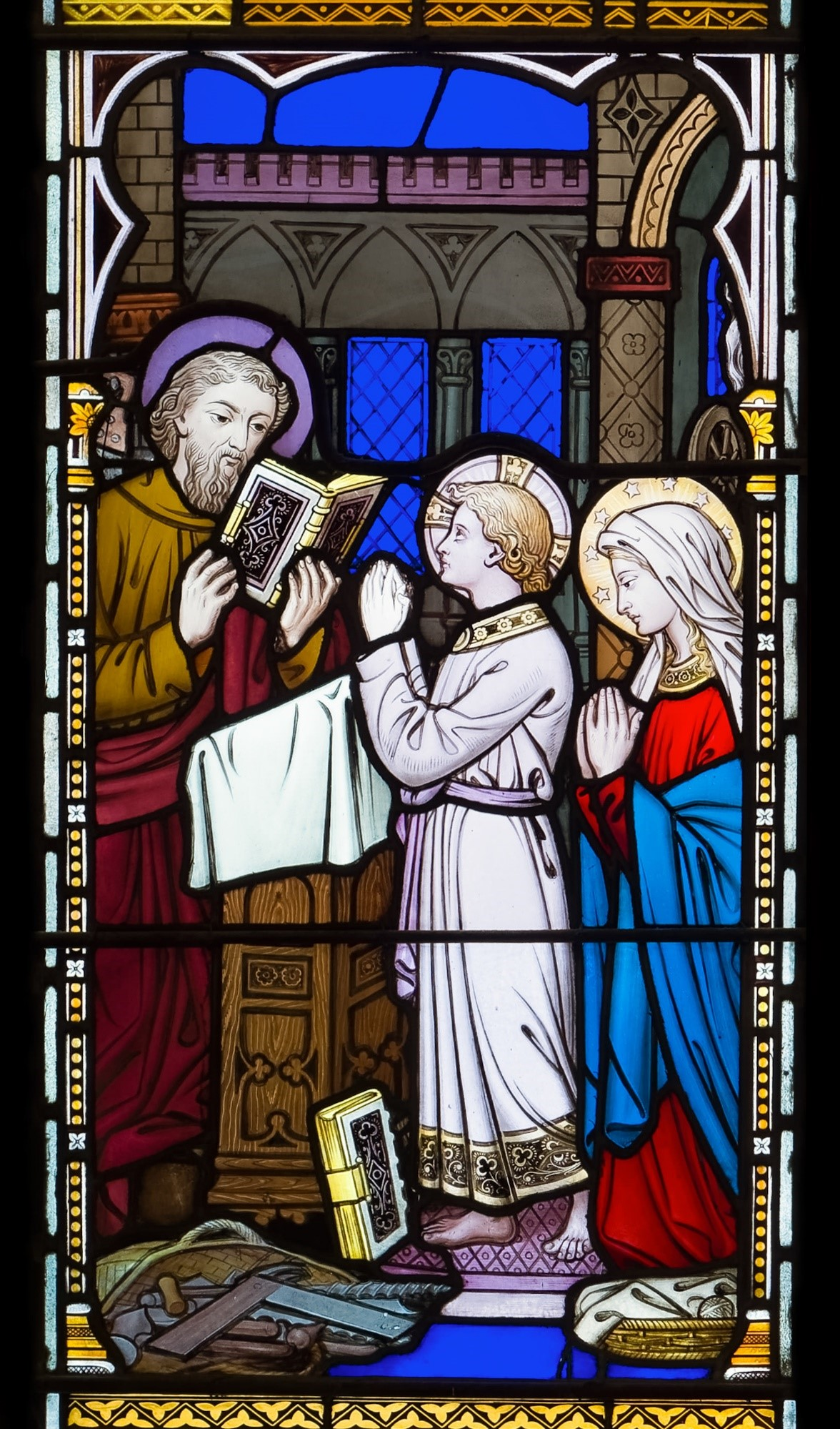 Photo credit for stained glass window: Kroeker Photo, Kingston, Ontario. Permission granted by the Rector of the Cathedral of the Blessed Virgin Mary of the Immaculate Conception, Kingston, Ontario.