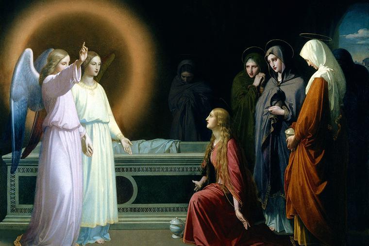 "Federico de Madrazo y Kuntz, ""The Three Women at the Tomb,"" 1841"