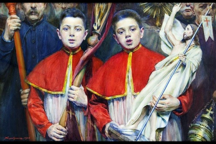 """Aleksander Augustynowicz, """"Alleluia,"""" 1906"""