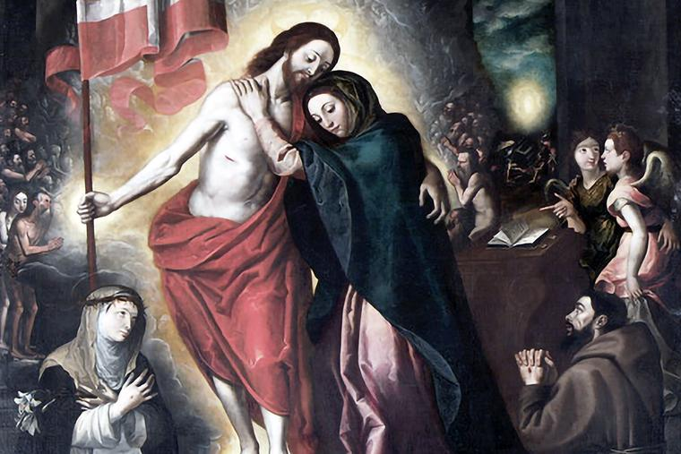 """Daniele Monteleone, """"The Risen Christ Appears to His Mother,"""" 1600"""
