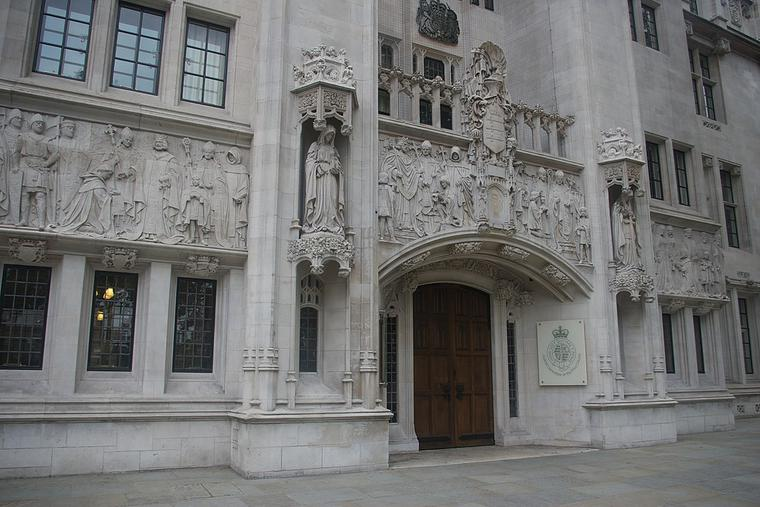 The Middlesex Guildhall, home of the Supreme Court of the United Kingdom.